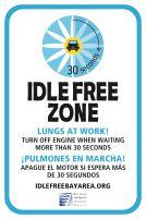 Idle Free zone public